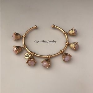 Plunder Jolene Bracelet gold flowers light pink